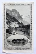 Dépliant Chemins De Fer De L'est Ligne Du Lötschberg Saint Gothard Suisse Italie - Europe