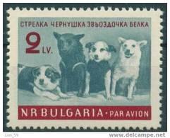 1299 Bulgaria 1961 Airmail > Soviet Cosmonaut - Dogs. - Cosmonaut Dog Strelka, Chernushka, Zwezdotschka And Belka - Airmail