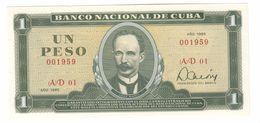 Kuba 1 Peso 1985 UNC  .C. - Cuba