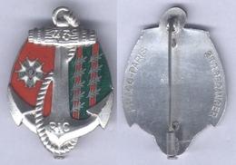 Insigne Du 43e Régiment D'Infanterie Coloniale - En Argent - Hueste
