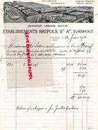 BELGIQUE- RARE FACTURE ETS. BREPOLS STE A. TURNHOUT-IMPRIMERIE LIBRAIRIE-RELIURE-MLLES SOTTIER A SENS YONNE-1920 - Printing & Stationeries