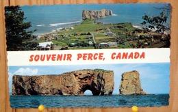 SOUVENIR PERCE CANADA VUE PANORAMIQUE DE PERCE DU MONT SAINT ANNE POINTE GASPESIE SCAN R/V - Gaspé