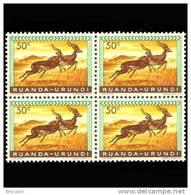 Ruanda 0208**x4 -  50c Impala  MNH - Ruanda-Urundi