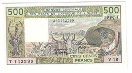 West African States / Togo 500 Francs 1986T UNC  .C. - Togo