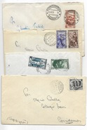 Varie Affrancature  Lire 25 Su Busta - 7 Pezzi - 6. 1946-.. Repubblica