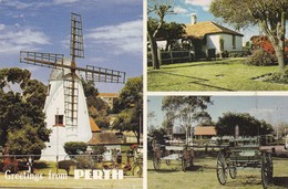 Postcard The Old Mill South Perth  Multiview By EMU Windmill Interest My Ref B22032 - Perth