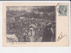 Algérie Fete Arabe Du Mouton Cpa Animée + Timbre Cachet 1904 - Autres