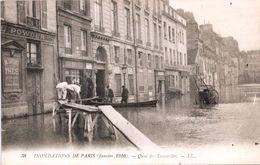 Inondations Paris (Janvier 1910) - Quai Des Tournelles (LL N°38) - Überschwemmung 1910