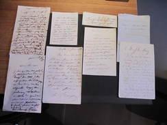 TAILLEUR BOMPARD PARIS Rue Du Pilier St Thomas - 8 Courriers 2e Moitié XIXe Siècle - Manuscrits