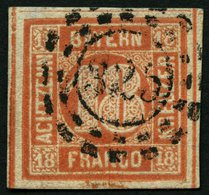 BAYERN 13b O, 1866, 18 Kr. Blassrot, Rückseitige Mängel, Bildseitig Breitrandig Kabinett, Mi. 600.- - Bavaria