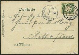 BAYERN 61y BRIEF, 1904, 5 Pf. Grün Auf Ansichtskarte Mit Stempel STARNBERG-SCHIFFSPOST C III, Prachtkarte - Bavaria