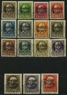 BAYERN 170B 152 O, 1920, 3, 5 Und 10 P. - 3 M. Freistaat (M.Nr. 152/3, 155-67B), Ungezähnt, 15 Prachtwerte, Gepr. Infla, - Bavaria