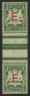 BAYERN D 2ZSIII **, 1908, 5 Pf. Dunkelgrün Im Senkrechten Zwischenstegpaar (dort Wie üblich 1x Gefaltet), üblich Gezähnt - Bavaria