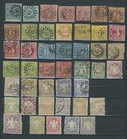 BAYERN O,* , 43 Werte Kreuzerwährung In Meist Fehlerhafter Erhaltung, Mi. über 1700.- - Bavaria