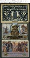 BAYERN PP27C65/01-07 BRIEF, Privatpost: 1912, 8. Deutsches Sängerbundfest, 7 Karten Komplett, Mit Blauschwarzem Schmuckk - Bavaria