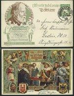 BAYERN PP 15C88 BRIEF, Privatpost: 1905, 5 Pf. Wappen 1881-1905 XXV-jähr. Aufführung Des Historischen Festspiel Meistert - Bavaria