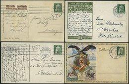 BAYERN PP 22 BRIEF, Privatpost: 1911-13, 4 Verschiedene Gebrauchte Prachtkarten - Bavaria