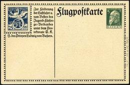 BAYERN SFP 1/02 BRIEF, 1912, 25 Pf. Blau BEAC Und 5 Pf. Grün, Alpenkette, Ungebraucht, Pracht, Mi. 120.- - Bavaria