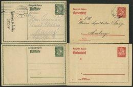 BAYERN 9 Verschiedene Ganzsachen Wappen, Mit Kartenbriefen, Postkarten Und Einer Postanweisung, Ungebraucht Und Gebrauch - Bavaria