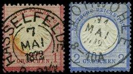 BRAUNSCHWEIG DR 4,5 O, HASSELFELDE Auf 1 Gr. Rotkarmin Und VORWOHLE Auf 2 Gr. Ultramarin, 2 Prachtwerte - Brunswick