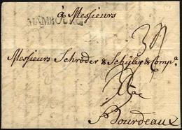 HAMBURG VORPHILA 1767, HAMBOURG, L1 Auf Brief Nach Bordeaux, Pracht - Thurn And Taxis