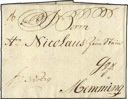 HAMBURG VORPHILA 1776, Brief Von Hamburg Nach Memming, Pracht - Thurn And Taxis