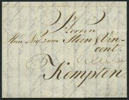 HAMBURG VORPHILA 1789, Brief Von Hamburg Nach Kempten, Pracht - Thurn And Taxis
