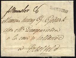 HAMBURG VORPHILA 1795, HAMBURG, L1 Auf Brief Nach Elberfeld, Handschriftlich Fr. Münster, Pracht - Thurn And Taxis
