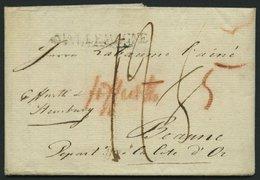 HAMBURG VORPHILA 1802, D`ALLEMAGNE, L1 Auf Brief Nach Beaune, Pracht - Thurn And Taxis