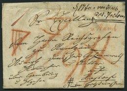 HAMBURG VORPHILA 1805, Eingeschriebener Brief (NB) Von Warasdin Nach Roßdorf, Viele Handschriftliche Vermerke Und Hohe T - Thurn And Taxis