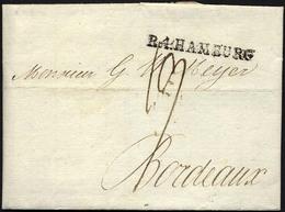 HAMBURG VORPHILA 1806, R.4. HAMBURG, L1 Auf Brief Nach Bordeaux, Pracht - Thurn And Taxis