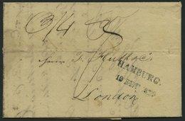HAMBURG VORPHILA 1822, HAMBURG., L2 (kleinere Type) Auf Brief Nach London, Rückseitig FPO/SE 17/1822, Pracht - Thurn And Taxis
