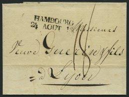 HAMBURG 1808, HAMBOURG. 4., L2 Auf Brief Nach Lyon, Pracht - Thurn And Taxis