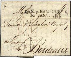 HAMBURG VORPHILA 1808, DAN.HAMBOURG 4., L2 Auf Brief Von Copenhagen Nach Bordeaux, Pracht - Thurn And Taxis