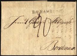 HAMBURG - THURN UND TAXISCHES O.P.A. 1814, R.4. HAMBURG, L1 Auf Vorgedrucktem Geschäftsbrief Nach Bordeaux, Pracht - Thurn And Taxis