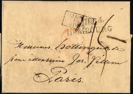 HAMBURG - THURN UND TAXISCHES O.P.A. 1819, TT.R.4 HAMBOURG, L2 Auf Brief Nach Paris, Transitstempel, Pracht - Thurn And Taxis