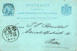 Bk G30  Amsterdam /Wien - Postal Stationery
