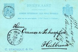 Bk G30  Rotterdam - Heilbronn Met Firmastempel - Postal Stationery
