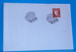 Lettre 2014   Cachet 1er Jour Fdc Sur Cérès 1 € - Mechanical Postmarks (Advertisement)