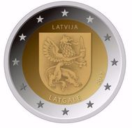 2 Euro COIN  Latvia 2017  Region  LATGALE Commemorative Coin LETTLAND LETTONIA  UNC  FROM MINT ROLL - Letland