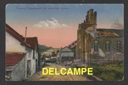 DF / GUERRE 1914-18 / OCCUPATION ALLEMANDE / UN VILLAGE DES VOSGES FRANÇAISES DONT L' EGLISE EST PARTIELLEMENT DETRUITE - Weltkrieg 1914-18