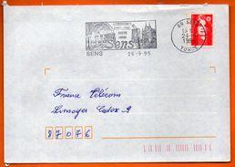 89 SENS    CATHEDRALE XII° S. 1995 Lettre Entière N° GG 717 - Marcophilie (Lettres)