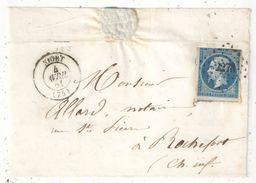 NIORT - Deux Sèvres - N° 14 Oblitéré PC 2273 Sur Devant De Lettre - Marcophilie (Lettres)