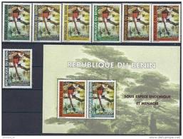 2003 BENIN Michel 1356-62+ BF  59** Singes - Bénin – Dahomey (1960-...)