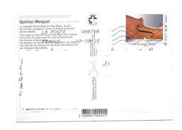 """FRANCE 2011 Collector """" La Lorraine """" Lutherie De MIRECOURT (adhésif) Sur Carte Postale - Collectors"""