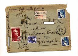 Devant De Lettre Recommandee Chargee Paris Sur Gandon - Manual Postmarks