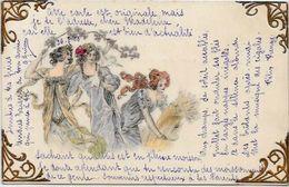 CPA Type Vienne Viennoise Art Nouveau Circulé Femme Girl Woman Pas D'éditeur Au Dos - Wichera