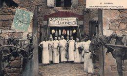 USSEL - La Charcuterie- Salaisons  LIMOUJOUX Et Son Personnel - 1912 - Colorisée - TBE - Ussel