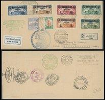 ZULEITUNGSPOST 209IG BRIEF, San Marino: 1933, Italienfahrt Mit Komplettem Satz Zeppelinmarken Und Sonderstempel CITTA, W - Zeppelins