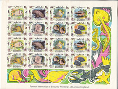 Dubai 1969,16V In Sheet,fish,vissen,fische,poissons,peche,Read/Lees,Cancelled/Gestempeld(L3205) - Poissons